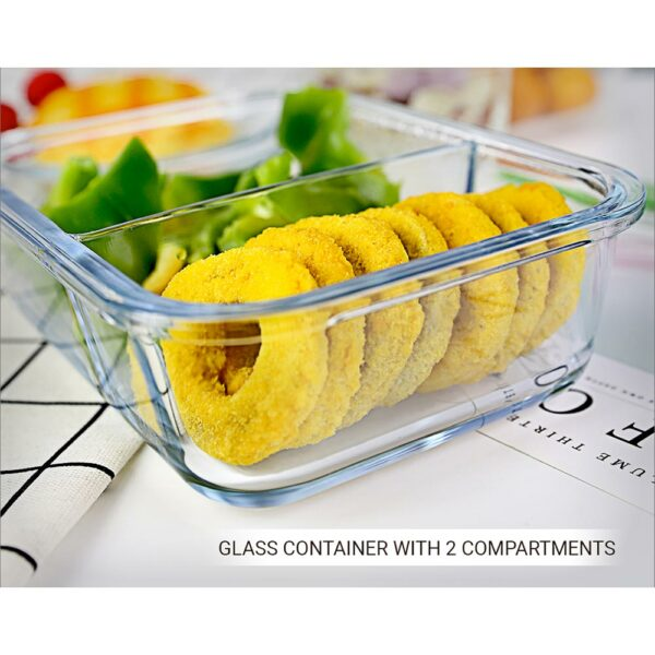 Compartment glass container