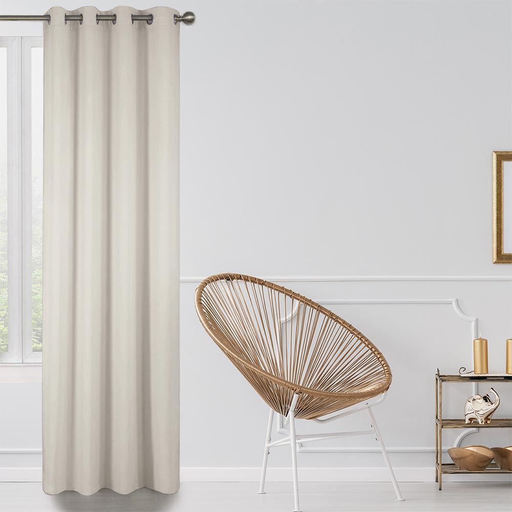 Blackout Lined Curtains Apricot