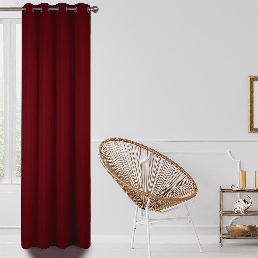 Blackout Lined Curtains Red