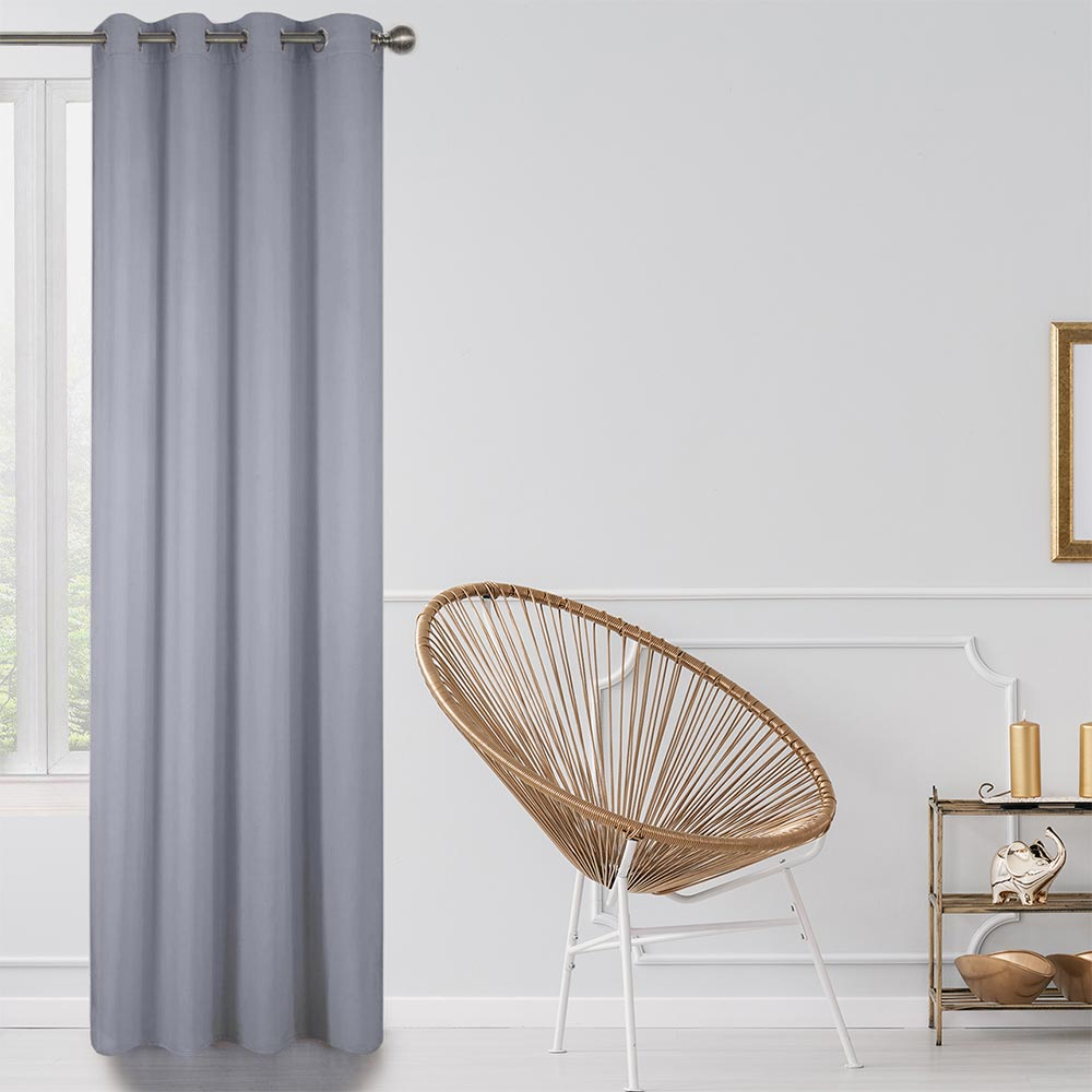 Blackout Lined Curtains Grey