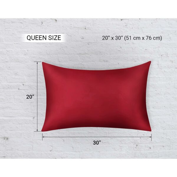 queen size pillow red wine